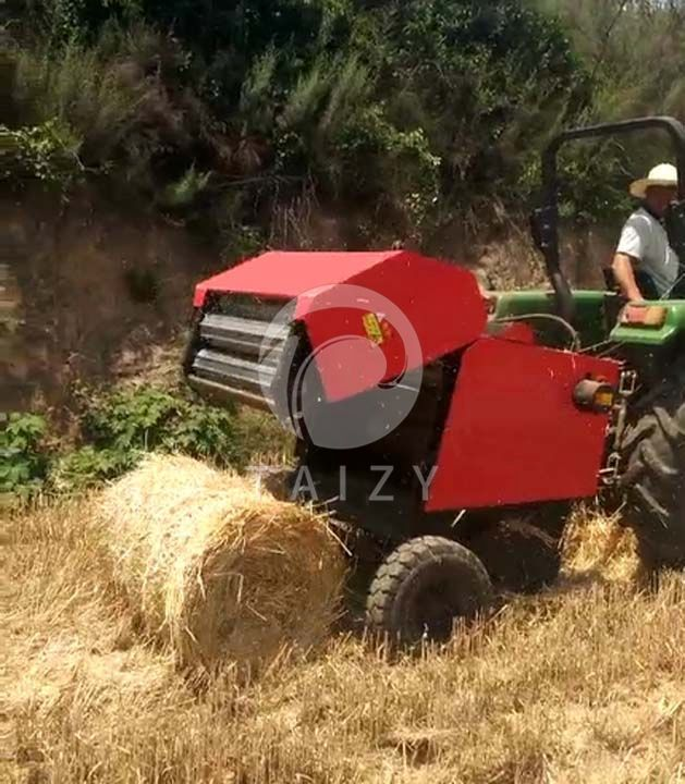 straw picking and baling machine