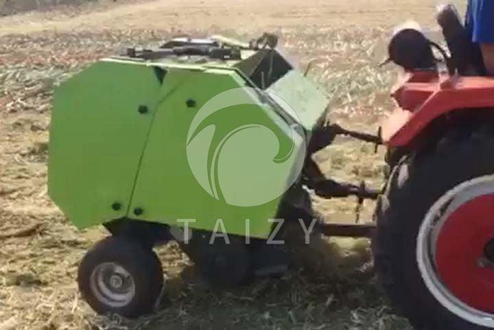 round baler straw harvester